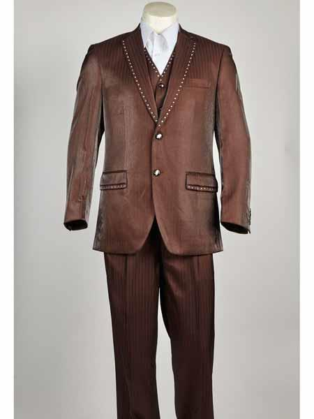 Mens Two Button Light brown color Suit, act now only $199.00