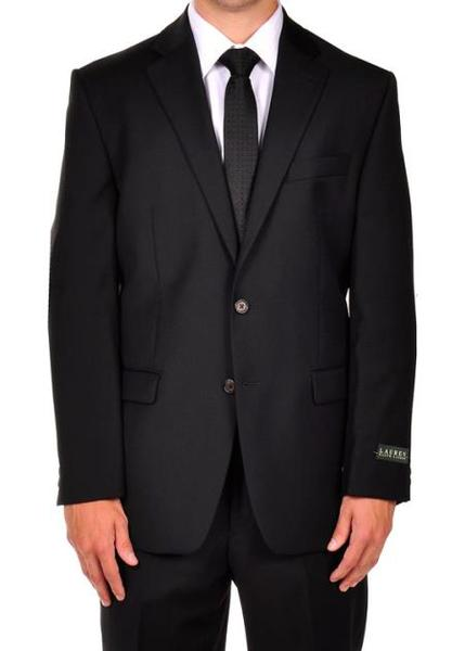 Mens Two Button Liquid Jet Black Dress Suit, act now only $275.00