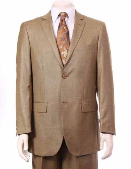 Mens Two Button Mustard color Suit, act now only $165.00