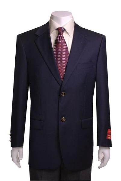 Mens Two button Navy Blue Shade Wool Fabric Jacket, act now only $139.00