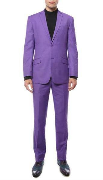 Mens Two Button Purple color Suit, act now only $129.00