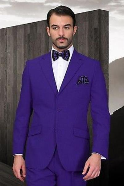 Mens Two Button Purple Suit, act now only $125.00