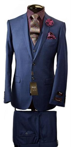 Mens Two Button Slim Fit Navy Suit, act now only $340.00