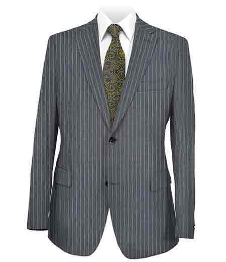 Mens Two Button Style Dark Grey Suit, act now only $225.00