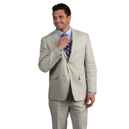 Mens Two  Button Tan khaki Color Suit, act now only $199.00