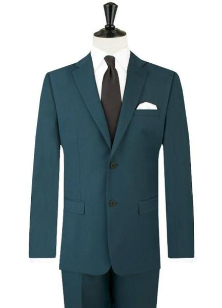Mens Two Button Teal Blue Suits, act now only $139.00