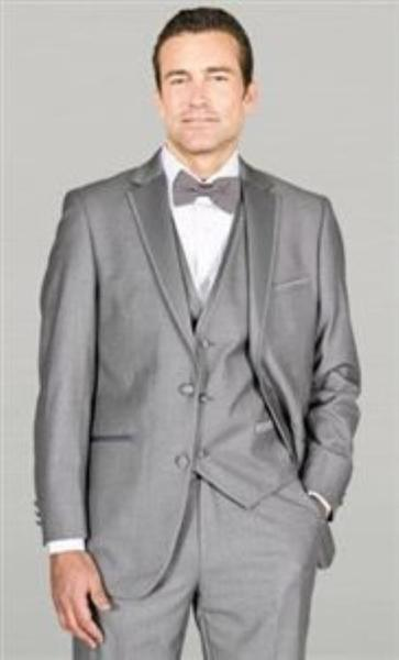 Mens Two Button Tuxedo Grey Suit, act now only $185.00