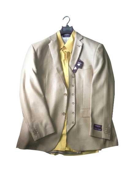 Mens Two button Vested Gold Vested 3 Piece Dress Suit, act now only $189.00
