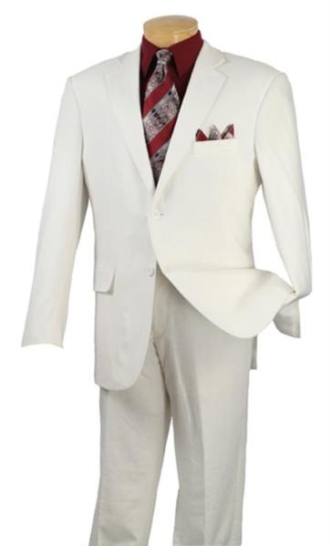 Mens White 2 Button Style Suits for Online, act now only $175.00