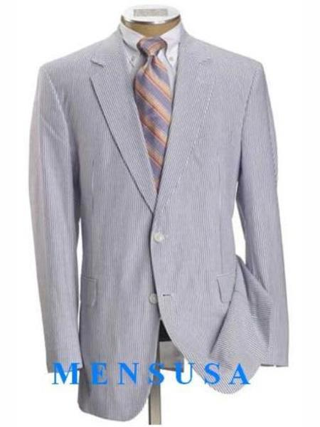 Mens White And Light Blue Two Button Style Suit, act now only $250.00