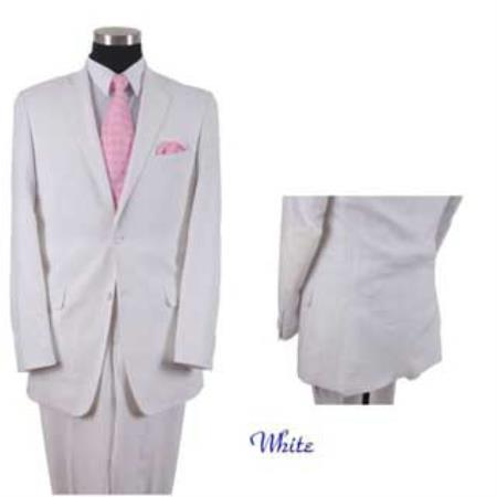 Mens White Online Sale Two Button Style Elbow Patch Sleeve Suit, act now only $175.00