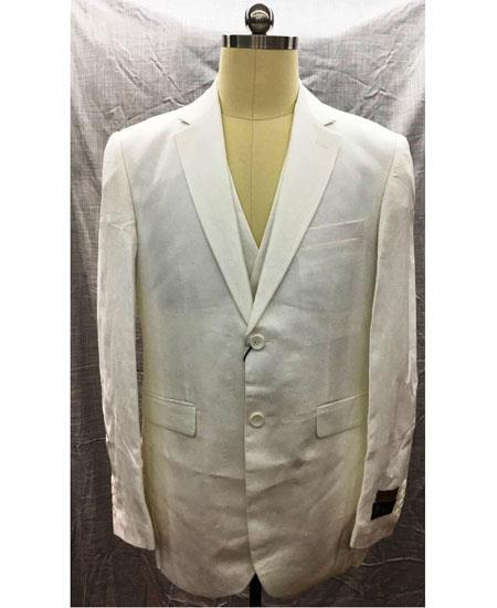 Mens White Single Breasted Two Button Style Suit, act now only $175.00