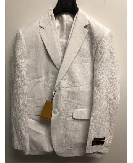 Mens White Two Button Style Notch Lapel Suit, act now only $175.00