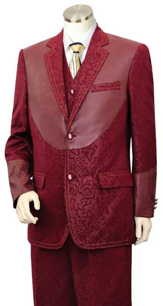 Mens Wine Trimmed Two Tone Blazer, act now only $189.00