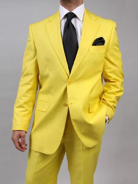 Mens Yellow Two Button Style Suit, act now only $139.00
