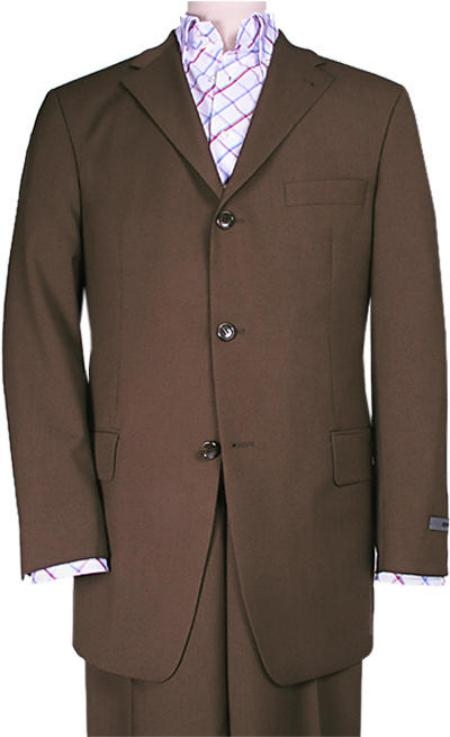 Chocolate Brown Solid Brown premier quality italian fabric Super 150's Wool Suits, act now only $199.00