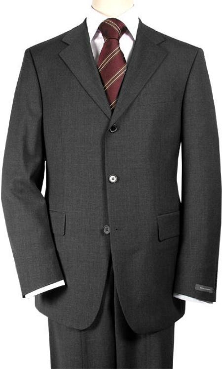 premier quality italian fabric Charcoal Gray Super 150's Wool Men's Suits, act now only $199.00