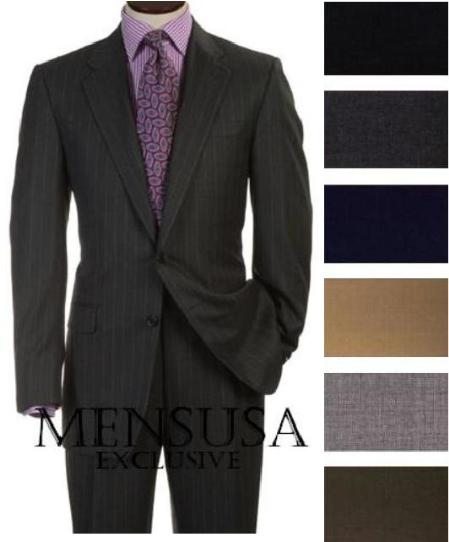2 Buttons Style Super Worsted Virgin Wool Business Suits Comes in 25 colors, act now only $170.00